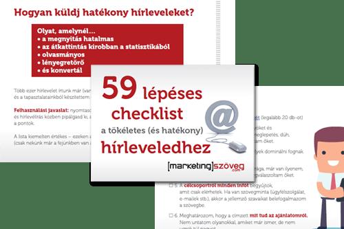 59 lépéses checklist